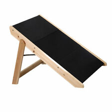 Portable Folding 2-in-1 Wooden Pet Ramp & Stairs Dog Cat Animal Steps Ladder