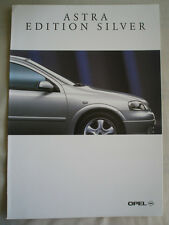 Opel Astra Edition Silver brochure Sep 1998 German text