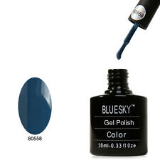 Bluesky 40558 Denim Blue - UV LED Gel Soak off Nail Polish 10ml