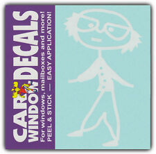 Car Window Decals: Grandpa Grandfather Grandad | Family Stick Figures | Stickers