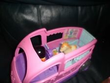Rare JUMP n RIDE Show Horse Pony Pink Trailer Fisher Price Little People 2010