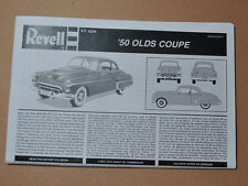 REVELL 1/25 1950 OLDS CLUB COUPE COMPLETE INSTRUCTION GUIDE SET - VERY CLEAN!