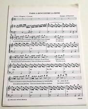 Partition sheet music SERGE REGGIANI : Paris a Rencontré la Seine * 90's