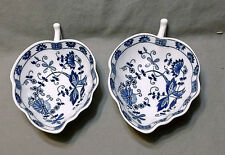 2 Blue Onion Blue & White Nut, Candy, Condiment Dishes