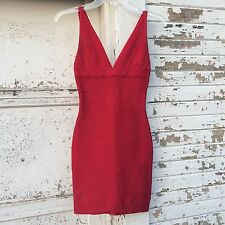 Authentic Herve Leger Red Bandage Dress