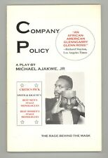 Company Policy: The Rage Behind the Mask by Michael Ajakwe 2000 PPBK Play Script