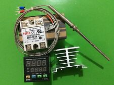 Digital F/C PID Temperature Controller TA4-SNR + K-Type Probe +25A SSR+Heat Sink