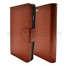 Brown Leather Flip Wallet Stand Case Cover For Samsung Galaxy Note 2 II N7100