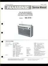 Original Factory Panasonic SG-515 AM FM Portable Phono Service Manual