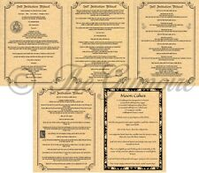 SELF INITIATION & DEDICATION RITE, Book of Shadows Spells Pages, Wicca, BOS