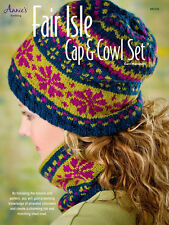 Fair Isle Cap & Cowl Knit Pattern Knitting Tutorial Hat Easy Annie's Leaflet NEW