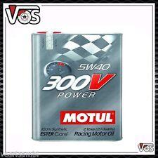 Olio Motore Motul 300V Power 2 Litri  5W40 100% Sintetico Ester Core