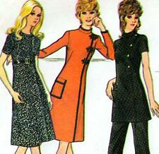 "Vintage 70s DRESS Tunic & Pants Sewing Pattern Bust 40"" Sz 16 Retro SUIT Evening"