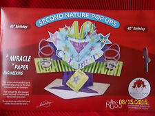40th Birthday Card 3D  Pop Up Greeting by RUSS  ~ Cake Topper ~ Centerpiece  NIB