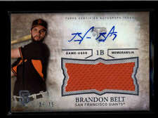 BRANDON BELT 2015 TOPPS TRIPLE THREADS JUMBO GAME JERSEY AUTO #29/75 AB8121