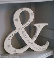 Non associate personalizzata AMPERSAND & cui essi vivevano felici Ever After matrimonio regalo