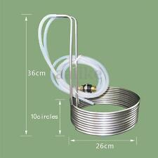 Stainless Steel Immersion Wort Chiller Cooler Elevated Coils Home Brew Beer