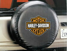 Harley Davidson Bar and Shield Orange  Logo Spare Tire Cover Truck Jeep SUV 4x4