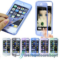 CRYSTAL CLEAR SLIM FLIP GEL TPU SILICONE SOFT CASE COVER FOR IPHONE 4G 4S 5G 5S
