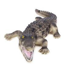 Vivid Rubber Crocodile Animal Reptile Model Toy Teaching Props 22.9 inch