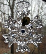 """WATERFORD Crystal 2013 Snowflake Wishes """"Goodwill"""" Christmas Ornament 3rd Ed NIB"""