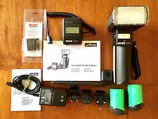 Metz Mecablitz 76 MZ-5 Digital Handle Mount Flash w Generic mount and Mamiya TTL