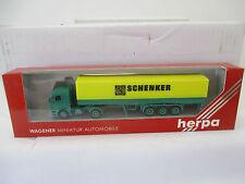 """Herpa 1:87 MB Pritschen-Sattelzug """"Schenker""""  WS7346"""