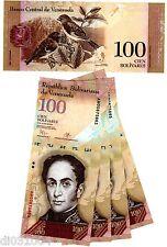 LOT 5 BILLETS VENEZUELA Billet 100 BOLIVARES 2015 P93 OISEAUX UNC NEUF