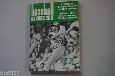 MARCH 1972  BASEBALL DIGEST-  FRANK ROBINSON ORIOLES  COVER