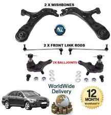 FOR TOYOTA AVENSIS FRONT 2x WISHBONE ARMS 2x LINK BARS 2x BALLJOINTS SUSPENSION