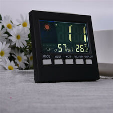 New LCD Digital Thermometer hygrometer Alarm Snooze Calendar Forecast Display NW