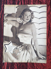 "ELLEN DREW - FILM STAR - 1 PAGE PICTURE -"" CLIPPING / CUTTING""- #4"