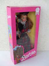 barbie scottish scozzese ecossais dolls world collector doll NRFB 1990 dotw 9845