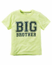 """NEW! """"BIG BROTHER"""" Boys Carters Graphic Shirt 2T Gift! Announcement SS Cool!"""