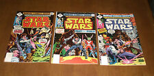 3 1977 STAR WARS COMIC BOOKS - No. 7 - 8 - 9