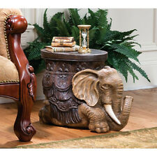 Sultan of the Sands Persian Elephant Sculptural Side Table Footstool Display