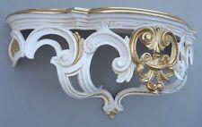 Regal Wandkonsole Gold-ivory BAROCK SpiegelKONSOLE 50x20x24 ANTIK ornamente