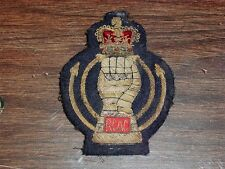 WWII 50' BRITISH ARMY ROYAL CANADIAN ARMOURED CORPS GOLD SILVER BULLION PATCH