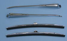 55 56 57 58 59 Chevy GMC truck wiper blades & arms set LH & RH