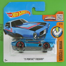 HOT WHEELS 2016 -  ´73 Pontiac Firebird -  Muscle Mania - 123 -  neu in OVP