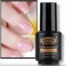 1PCS Non Cleansing Non-Sticky Top Coat Shiny Cover Gel UV Dry Mirror Finish 8ML