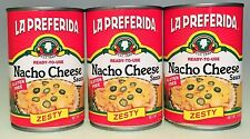 Lapreferida Ready to Use Zesty Nacho Cheese Sauce 3 Cans 15 oz