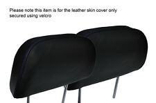 PURPLE STITCH 2X FRONT HEADREST LEATHER SKIN COVERS FITS HONDA PRELUDE 1986-1991