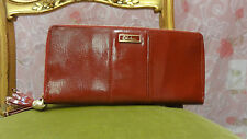 COLE HAAN WALLET RED PATENT LEATHER