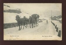 France MAIL in Winter Horse drawn sledge mail carriage in snow Used 1909 PPC