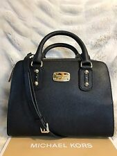 NWT MICHAEL KORS SAFFIANO LEATHER SMALL SATCHEL BAG IN BLACK
