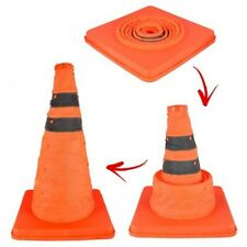 """18"""" COLLAPSIBLE PULL OUT POP UP SAFETY CONE EMERGENCY ACCIDENT TRAFFIC ROAD"""