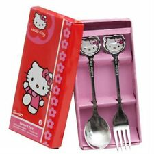 Coffret couverts HELLO KITTY cuiller,fourchette,cuillère,spoon and fork,cutlery