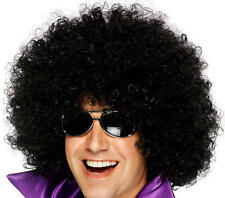 Large Black Afro Wig 70'S Retro Disco Diva Starsky & Hutch Pimp Fancy Dress