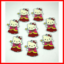 Wholesale 8 pcs Red Jewelry Making Metal Figure Pendant Charms For Hello Kitty